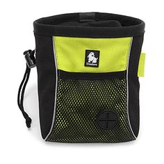 Creation Core Professional Dog Treat Pouch Portable Clip-on Belt Bag Ideal for Snacks and Toys Reflective Pet Training Bag, Green S >>> Want additional info? Click on the image.