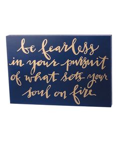 Another great find on #zulily! 'Be Fearless' Block Sign #zulilyfinds