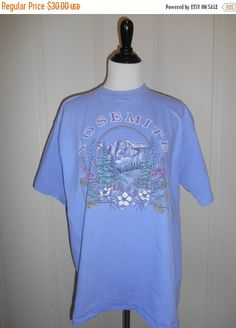 b7feef0341d0 SALE Vintage YOSEMITE National Park t shirt tee Yosemite National Park,  Vintage Shirts, Tee