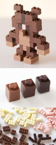 Legos de chocolate