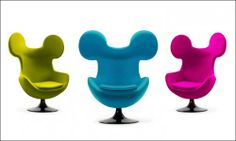 Chair with Mickey Mouse ears