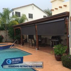 Best Standard Patio Shades Exterior Retractable Shades Images