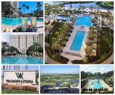 Luxury accommodation in Orlando Florida. Outside the Waldorf Orlando, garden and pool are fantastic!