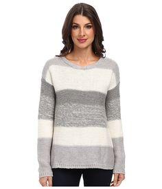 Calvin Klein Jeans Womens Textured Lurex? Cowl Neck Gardenia - Sweaters