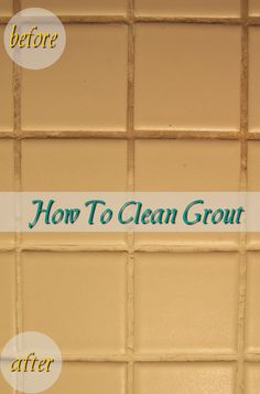How To Clean Grout | Hate my porcelain tile floor and its grout, gonna have to try this!