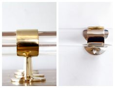 Lucite Rods: Lux Hold Ups- Etsy!  brass and lucite 800 Other sources- Rest Harware, Plexi Craft