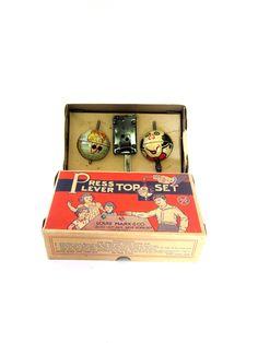 Vintage World Globe Toy c1930 Louis Marx Press Lever Top Set w/Original Box by UPSTARTS on Etsy https://www.etsy.com/listing/544660970/vintage-world-globe-toy-c1930-louis-marx