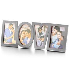 ComprarPortafotos Romántico LOVE al mejor precio. Elportafotos romántico LOVE es el portarretratos más adorable que hayas visto. Esteromántico portafotos es la manera ideal de mostrar tu lado más sensible. Expón tus momentos más románticos con tu pareja en el portafotos romántico LOVE. Elportafotos romántico LOVEes el regalo perfecto para aniversarios, fechas destacadas o, sencillamente, para expresar tu amor cuando lo necesites. El portafotos romántico LOVE tiene espacio para 4 fotos…