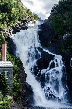 Ouiatchouan waterfall. Chambord, Quebec, Canada.