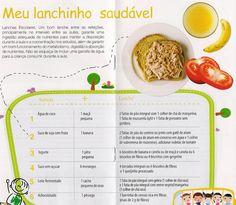 cardápio lanche prato saudável