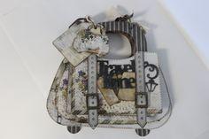 RomanticTravel handbag album Paper Purse, Diy Bags, Boxes, Album, Purses, Projects, Travel, Crates, Blue Prints