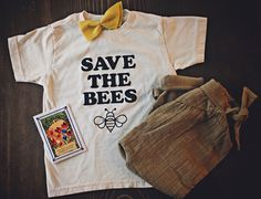 Save the Bees! Help us bring awareness to this important topic by purchasing (and wearing) this tee!