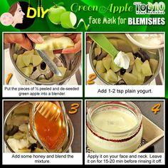 DIY Green Apple Face Mask for Blemishes