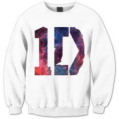 One Direction Sweatshirt - 1D Galaxy Shirt - One Direction Shirt - 1D... (42 AUD) ❤ liked on Polyvore featuring tops, hoodies, sweatshirts, shirts, one direction, sweaters, zip sweatshirt, zipper shirt, nebula shirt and unisex shirts