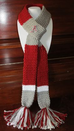 Hey, I found this really awesome Etsy listing at https://www.etsy.com/listing/165365209/collegiate-scarf-group-fringe