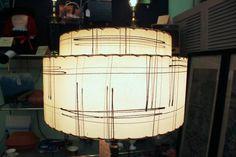 Exquisite 1950's Mid-Century Modern Atomic Shade Floor Lamp
