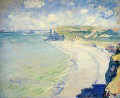 Клод Моне картина Побережье в Пурвиле 1882г