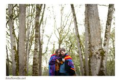 Andrew & Sasha Newberg, Oregon Engagement  Photo By FotoNovella A blanket is the perfect prop for a chilly, rainy Portland day :)