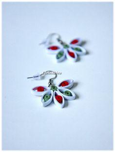Quilling Ohrhänger Ohrringe Papier Weihnachten von Liebeabies auf DaWanda.com