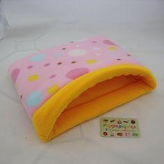 Piggie Dig (M) - Spots Fleece with Yellow Fleece Guinea Pig Supplies, Guinea Pigs, Sunglasses Case, Coin Purse, Yellow, Handmade, Hand Made, Coin Purses, Handarbeit