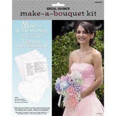 ribbon bouquet / bow boquet bridal shower, rehearsal bouquet kit - makes it easy!