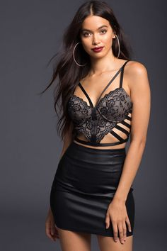 Night Out Lace Bustier