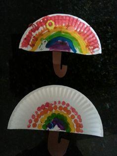 Bricolage- parapluies, arc en ciel, couleurs