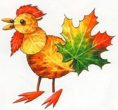 Creative Ideas on Leaf Art Autumn Crafts, Fall Crafts For Kids, Autumn Art, Nature Crafts, Art For Kids, Leaf Projects, Art Projects, Leaf Animals, Leaf Crafts