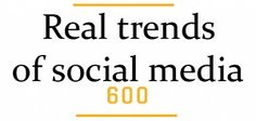 Real Trends of Social Media  [INFOGRAPHIC]