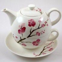 Tetera Cherry Blossom Shamila Set para uno 0,5l Lo hay en Tea Garden, en la calle Galera