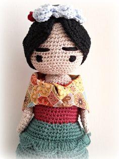 Frida Kahlo Amigurumi Doll Frida Crochet by CreoErgoSumHandmade
