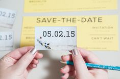 DIY Wedding // Magnet Save the Date Invitations! Order inexpensive 'business card magnets' with your engagement picture from VistaPrint!