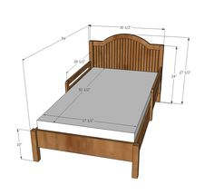 Baby Bed Mesurment : Toddler Bed Plans on Pinterest  Traditional toddler beds, Toddler bed ...