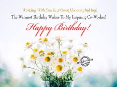 Top inspirational birthday quotes for coworker - Happy birthday images For Colleague Female Birthday Wishes For Coworker, Happy Birthday Colleague, Happy 1st Birthday Wishes, Unique Birthday Wishes, Birthday Wishes With Name, Happy 1st Birthdays, Happy Birthday Quotes, Birthday Messages, Birthday Images