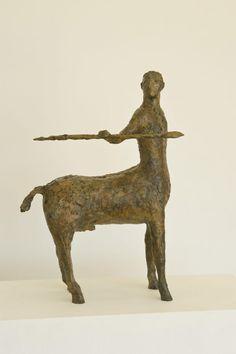 #Bronze #sculpture by #sculptor Marzia Colonna titled: 'Centaur (Little Bronze Centaur figurine statuette)'. #MarziaColonna