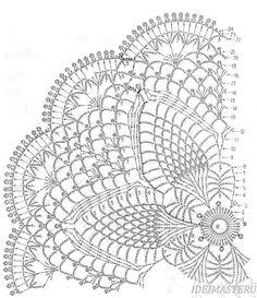 Одноклассники Crochet Doily Diagram, Crochet Mandala, Crochet Flower Patterns, Freeform Crochet, Thread Crochet, Filet Crochet, Crochet Motif, Crochet Stitches, Crochet Star Stitch