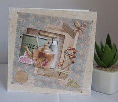 Karte Tea-Party, Vintage - Look, handgemacht von KartengalerieDoris auf Etsy Our Love, Decorative Boxes, Etsy, Frame, Party, Vintage, Home Decor, Handmade Birthday Cards, Worth It