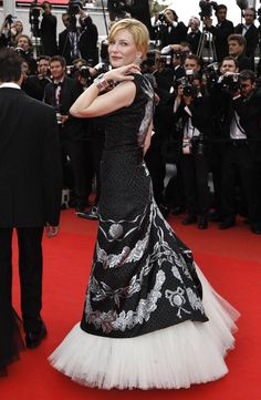 Making quite the stylish statement on the red carpet at the Cannes Film Festival in 2010 wearing Alexander McQueen