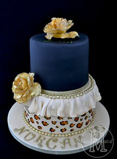 Navy, white ruffle, leopard print with gold roses