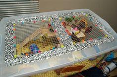 DIY Hamster Cage (Bin Cage)   Hammy Happenings