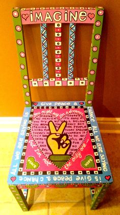 """""""Imagine"""" chair painted for a woman in the Maryland."""