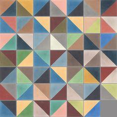 interior design   decoration   home decor   colors   cement tiles   Carreaux de ciment - Les patchworks - Carreau PW 29 - Couleurs & Matières