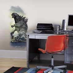 New Giant GODZILLA CITY WALL GRAPHIX DECAL Peel and Stick Graphic Wall Stickers - BUY NOW ONLY 17.99