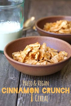 "Paleo Cinnamon Crunch ""Cereal."" This easy alternative is vegan and requires only 3 ingredients! 