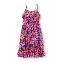 Image for Girls Sleeveless Printed Hi-Low Ruffle Hem Dress from The Children's Place