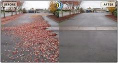 Sand, rock and debris act as an abrasive. Removing them regularly assists in preventing pot holes, cracking, and striping erosion. Resurfacing costs are tremendous!  By sweeping outside of office and other buildings, inside floor maintenance can also be reduced through the removal of the street-based abrasive material.