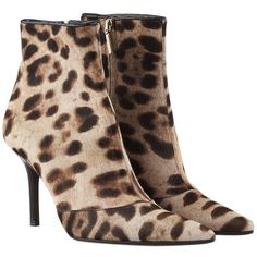 Dolce & Gabbana Leopard Pony Hair Ankle Boots, Size 6 (5.476.240 VND) ❤ liked on Polyvore featuring shoes, boots, ankle booties, leopard booties, short boots, animal print booties, leopard calf hair booties and dolce gabbana boots