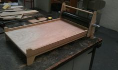 Making a proofing press with a large spindle roller, great idea!!!