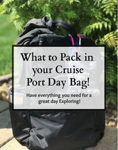 Get your tourist day bag ready for a great day in your cruise port of call. Incl… Get your tourist day bag ready for a great day in your cruise port of call. Includes list of essentials every prepared tourist and cruiser needs. Bahamas Cruise, Cruise Port, Best Cruise, Cruise Travel, Caribbean Cruise, Cruise Vacation, Royal Caribbean, Honeymoon Trip, Packing List For Cruise
