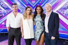 The X Factor judges 2014 - Simon Cowell, Cheryl Fernandez-Versini , Mel B and Louis Walsh.
